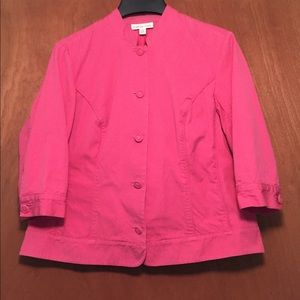 Women's Size plus 18W Lightweight Jacket Button up